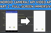 Making android video app full screen