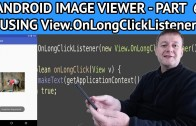 Android image viewer adding long click press