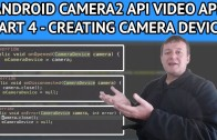 Android video app camera device setup