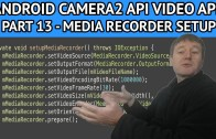 android video app setup media recorder