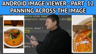 Android image viewer panning