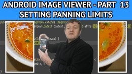 Android image viewer setting panning bounds